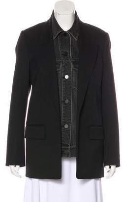 Alexander Wang Wool & Denim Coat