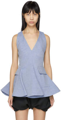 Carven Indigo Twill Short Dress