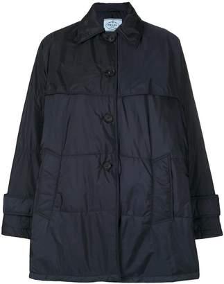 Prada belted puffer jacket