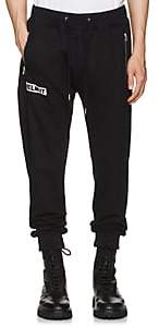 Helmut Lang Men's Logo Cotton French Terry Jogger Pants-Black