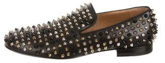 Christian Louboutin Leather Dandelion Spikes Loafers