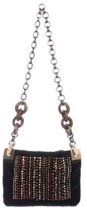Lanvin Embellished Chain Shoulder Bag Black Embellished Chain Shoulder Bag