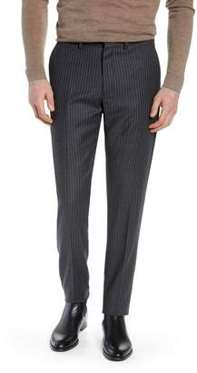 Nordstrom Signature Flat Front Wool Blend Stripe Trousers