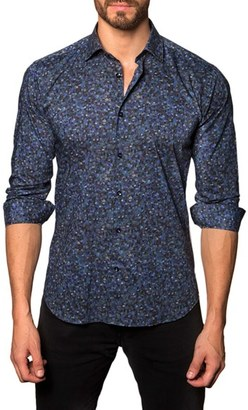 Men's Jared Lang Trim Fit Print Sport Shirt $149 thestylecure.com