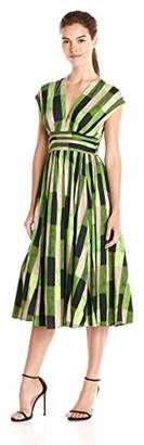Tracy Reese Women's Abstract Print Fit and Flare Dress $219.69 thestylecure.com
