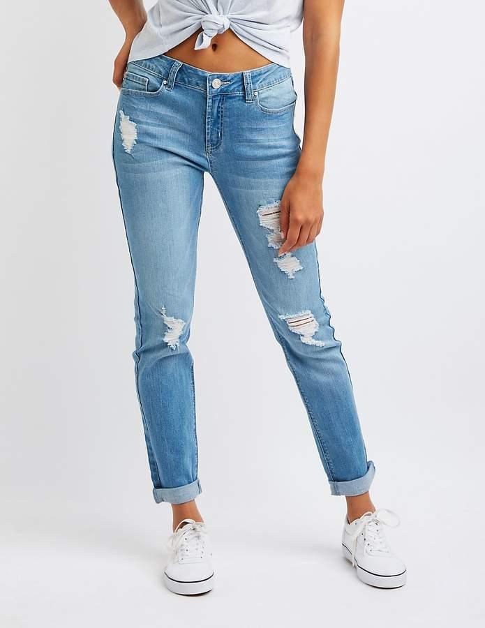 Charlotte Russe Refuge Distressed Boyfriend Jeans
