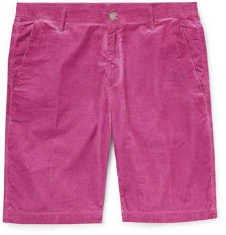 Massimo Alba Slim-Fit Watercolour-Dyed Cotton-Corduroy Shorts