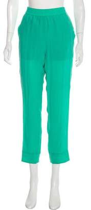 Sonia Rykiel Sonia by Silk High-Rise Straight-Leg Pants