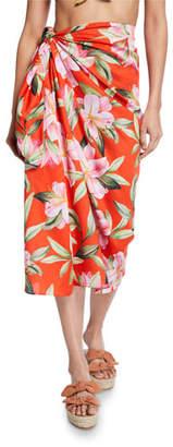 Mara Hoffman Izzi Printed Wrap Skirt Coverup