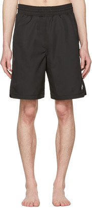 Marcelo Burlon County of Milan Black Chico Board Shorts $230 thestylecure.com