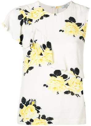 Ganni floral sleeveless top