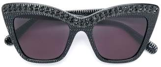 Stella McCartney Eyewear crystal-embellished cat eye sunglasses