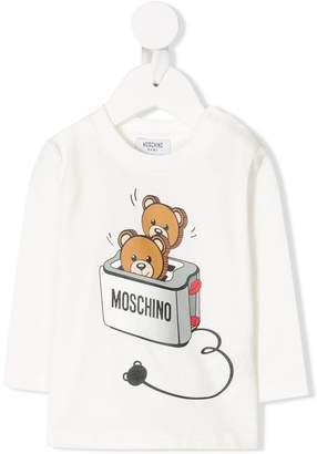 Moschino Kids teddy bear toaster printed T-shirt