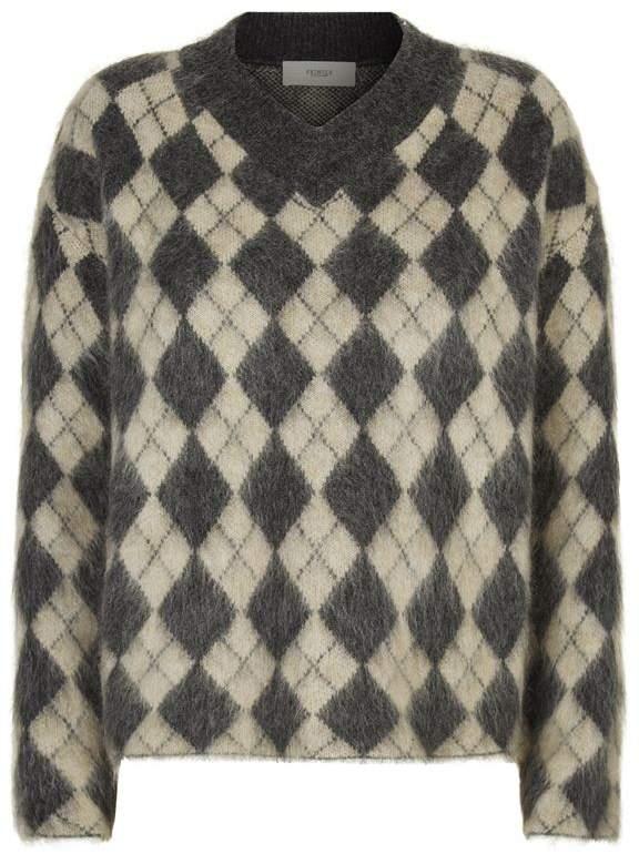 Argyle Mohair Sweater