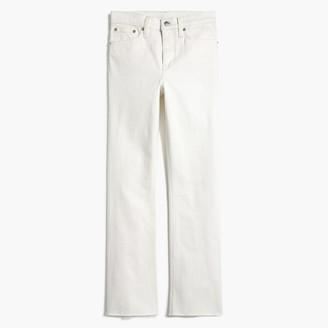 """J.Crew 9"""" high-rise flare crop jean in white denim"""