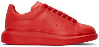 Alexander McQueen Red Oversized Sneakers