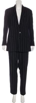 Giorgio Collection Vintage Wool Notch-Lapel Pantsuit