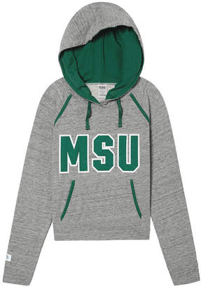 PINK Michigan State University Bling Crossover Perfect Pullover
