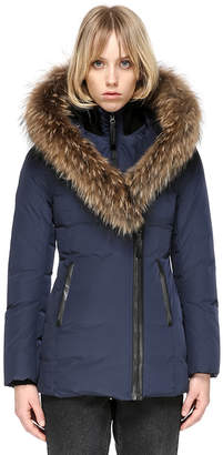 Mackage ADALI FITTED WINTER DOWN COAT WITH FUR HOOD