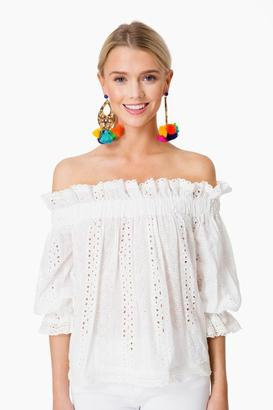 Endless Rose White Eyelet Cassidy Off the Shoulder Top $78 thestylecure.com