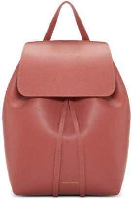 Mansur Gavriel Pink Saffiano Mini Backpack