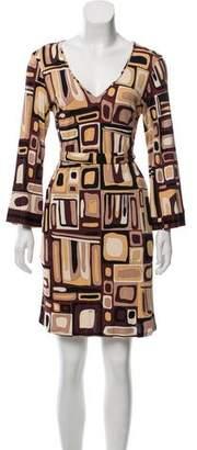 Emilio Pucci Long Sleeve V-Neck Dress