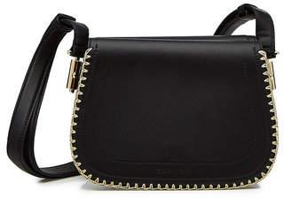 Carven Embellished Leather Shoulder Bag