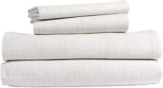 Peri Home Waffle Print Cotton Sheet Set
