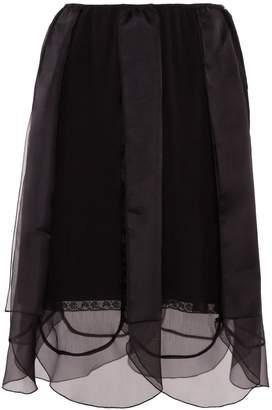 Prada Chiffon Skirt With Organza