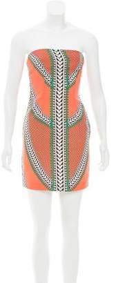 Mara Hoffman Strapless Geometric Print Dress
