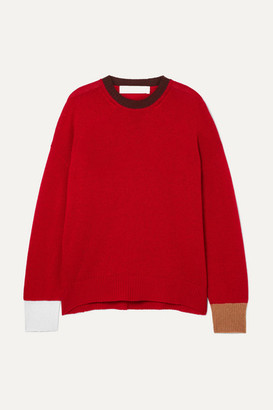Marni Color-block Cashmere Sweater - Red