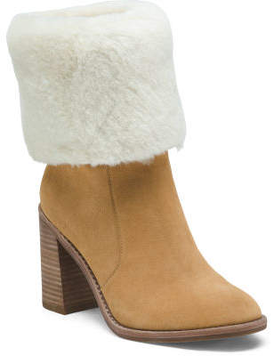 Cuff Down Block Heel Boot