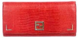 Fendi Lizard Flap Wallet