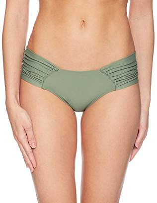 Luli Fama Women's Cosita Buena Scrunch Panty Ruched Back Bikini Bottom