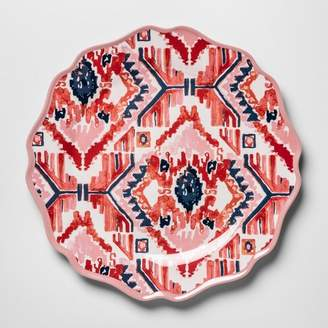 "Opalhouse Melamine Dinner Plate 10.5"" Pink/Red Ikat"