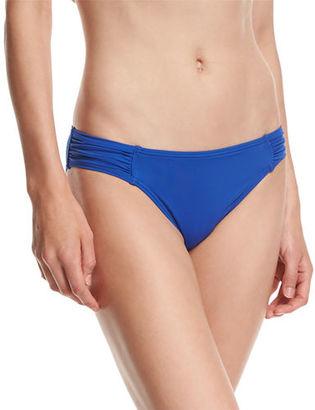 Tommy Bahama Pearl Shirred-Side Solid Hipster Swim Bottom $53 thestylecure.com