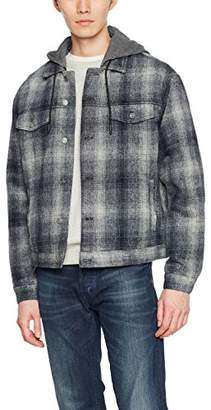 New Look Men's Check Western Jacket (Mid Blue 40), (Manufacturer Size:50)