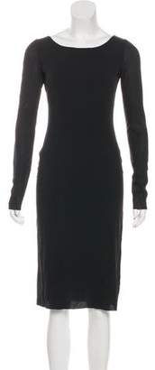 Dolce & Gabbana Long Sleeve Knee-Length Dress