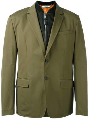 Givenchy bomber layer blazer jacket