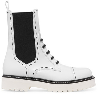 Dolce & Gabbana - Leather Boots - White $1,245 thestylecure.com