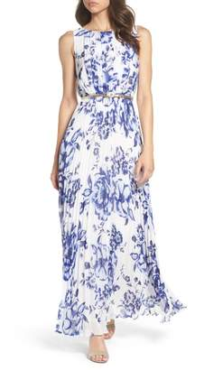 Eliza J Chiffon Maxi Dress