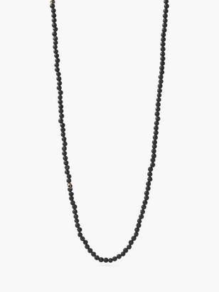 John Varvatos Beaded Lava & Brass Necklace