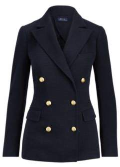 Ralph Lauren Knit Double-Breasted Blazer Navy 4