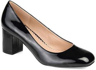 Journee Collection Womens Miranda Pumps Square Toe Block Heel