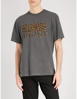 Billionaire Boys Club Leopard logo cotton-jersey T-shirt