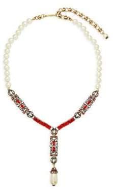 Heidi Daus Line Em Up Faux Pearl Necklace
