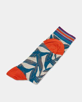 Ted Baker LEONIN Leaf print cotton socks