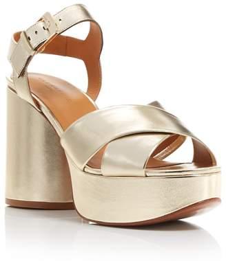 Robert Clergerie Women's Viane Leather High Heel Platform Sandals