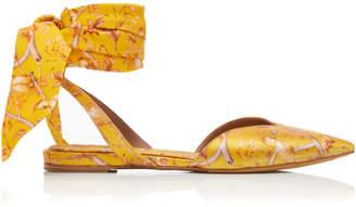 Tabitha Simmons x Johanna Ortiz Vera Printed Silk Satin Flats