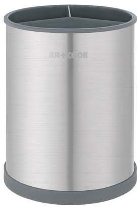 ART AND COOK Stainless Steel Charcoal Rotating Round Utensil Holder